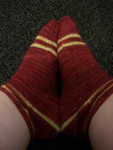 Socks before duplicate stitch